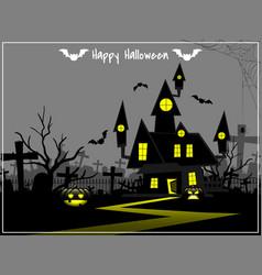 Halloween background with happy halloween text vector