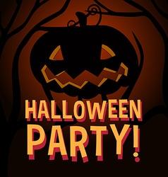 Halloween theme with pumpkin vector image