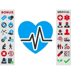 Heart Diagram Icon vector image