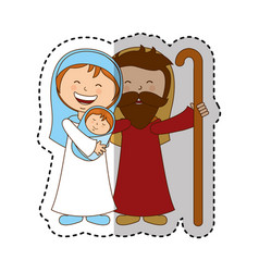 holy family manger character vector image