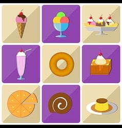 Icon dessert vector