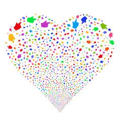 Index finger fireworks heart vector