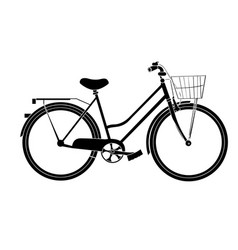 isolated bicycle silhouette vector image