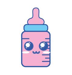 kawaii cute tender feeding bottle vector image
