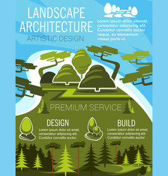 Landscape design banner with eco park green tree vector