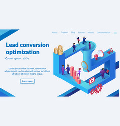 Lead conversion optimization web banner vector