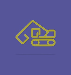 Linear backhoe icon vector image