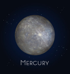 Mercury icon first planet in solar system vector
