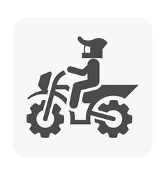 Motocross icon black vector