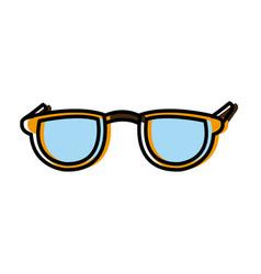 nerd glasses isolated vector image