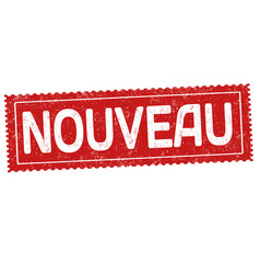 New on french language nouveau grunge rubber vector