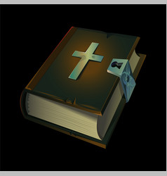 Old holy bible book icon vector