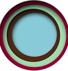 Paper round holes vector image