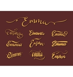 Personal name Emma vector