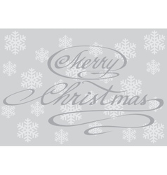 PrintHappy merry Christmas hand lettering vector image