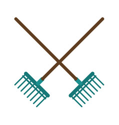 Rake agriculture tool image vector