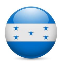 Round glossy icon of honduras vector image