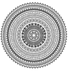 round ornament pattern in tribal ethnic style vector image