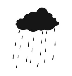 Scottish rainy weather icon in black style vector