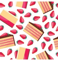 Seamless background with a pattern of delicious vector image