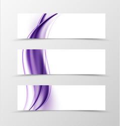 Set of header banner soft design vector