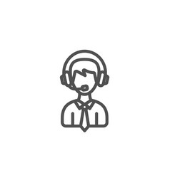 Shipping support line icon delivery manager vector