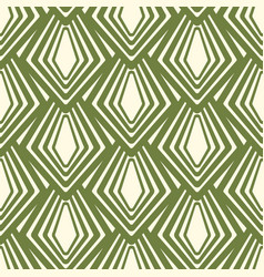 Simple abstract seamless green and white pattern vector