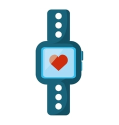 smartwatch with cardiology app vector image
