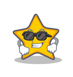 Super cool star character cartoon style vector