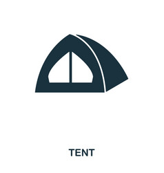 tent icon mobile app printing web site icon vector image