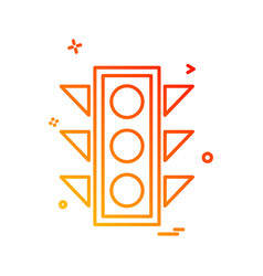traffic signals icon design vector image