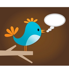 twitter bird vector image