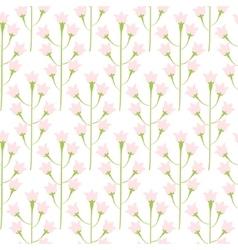 Wild bluebell pink pastel flower spring field vector