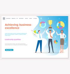 winners and award leadership qualities vector image