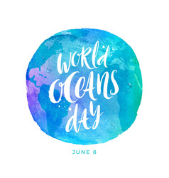 World oceans day emblem vector