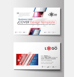 business card templates cover design template vector image vector image