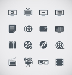 Cinema web silhouettes collection vector image vector image