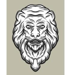 lion head door knocker line art style vector image