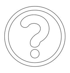 Question mark in a circle the black color icon vector