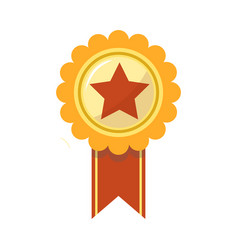 ribbon award of golden star for sport championship vector image vector image