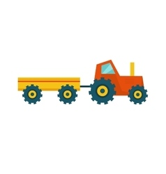 Tractor with Trailer vector image