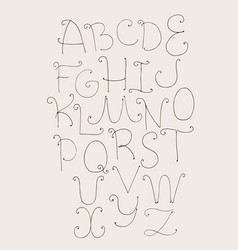 abc letters sequence from a to z capital letters vector image