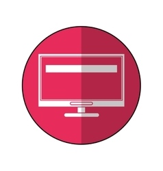 computer screen tool repair support pink circle vector image