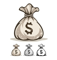 Full sack with money dollars vector image