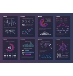 Infographics brochures templates for vector image vector image
