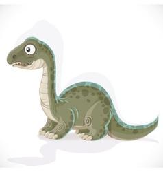 Little Brontosaurus isolated on white background vector image