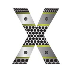 Perforated metal letter x vector