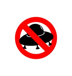 Stop UFO Prohibited from flying saucer Frozen vector image vector image