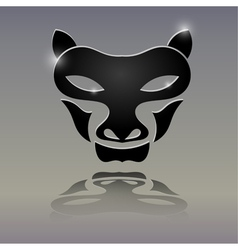 Tattoos in the form of a wolfs head vector image vector image