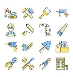 Building Tools Icon Set vector image